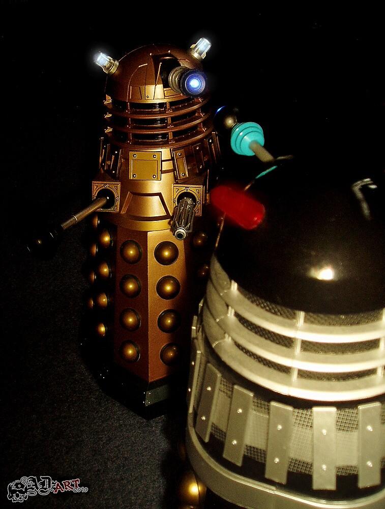 Dalek Double Take by ADzArt