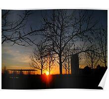 Sunset @ Thames Barrier Park, London Poster