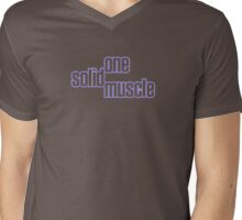 One Solid Muscle Mens V-Neck T-Shirt