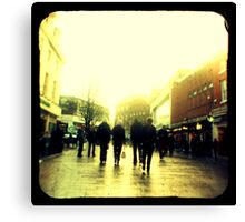 On their way to christmas shopping heaven... Canvas Print