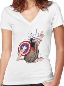 American Caveman Women's Fitted V-Neck T-Shirt