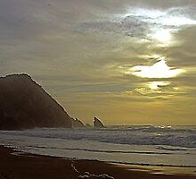 Sunset  at Adraga beach by BaZZuKa