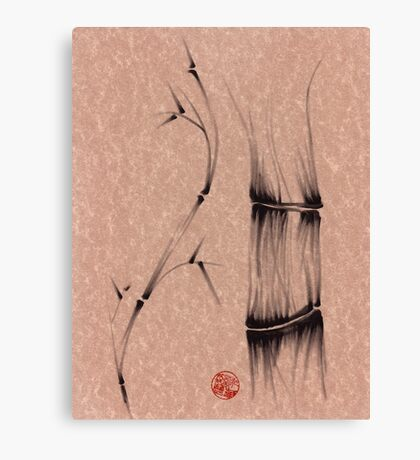 'dance'  brush pen bamboo drawing Canvas Print