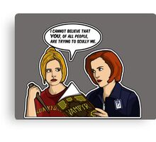 Scully Me. Canvas Print