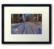 The whiteness Framed Print