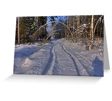 The whiteness Greeting Card