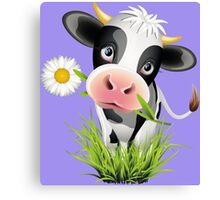 Cute cow with pretty eyes Canvas Print
