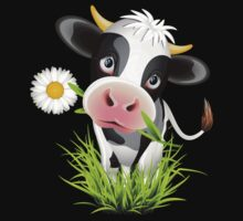 Cute cow with pretty eyes Kids Clothes