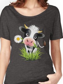 Cute cow with pretty eyes Women's Relaxed Fit T-Shirt