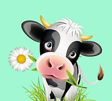 Cute cow with pretty eyes by Olga Chetverikova