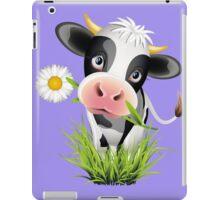 Cute cow with pretty eyes iPad Case/Skin