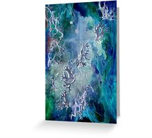 Lunar neuronal essence Greeting Card