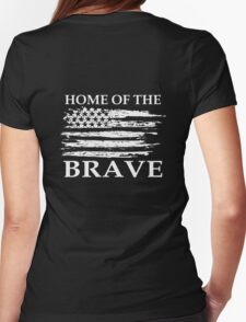 Home Of The Brave Womens Fitted T-Shirt