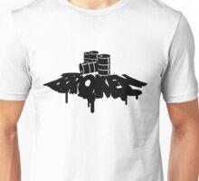 Oil Spill Broken Skateboards Logo Unisex T-Shirt