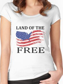 Home Of The Brave Women's Fitted Scoop T-Shirt