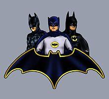 League of Movie Batmen by Anna Welker
