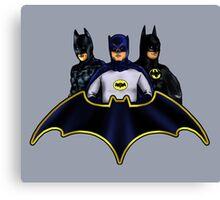 League of Movie Batmen Canvas Print