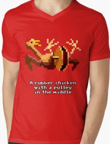 Monkey Island - Rubber chicken with a pulley in the middle Mens V-Neck T-Shirt