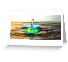 Splash With Reflection Greeting Card