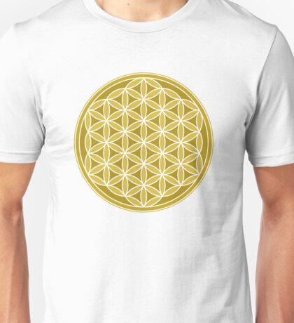 Flower of Life – Golds & White Unisex T-Shirt