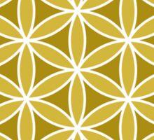 Flower of Life – Golds & White Sticker