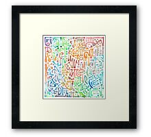 colorful water brush Framed Print