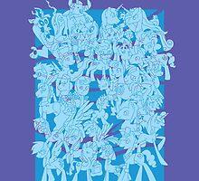 mlp - Rainbow dash blue by pokegirl93