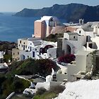 Homes in Oia, Santorini Greece by Lucinda Walter