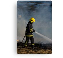 Damping down Canvas Print