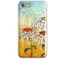 Digital Daisy Trio Impression Painting iPhone Case/Skin