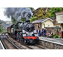 Steaming into Goathland Photographic Print