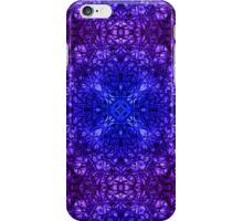 """""""Spirit of India: Fleur-Web"""" in deep blue and violet iPhone Case/Skin"""