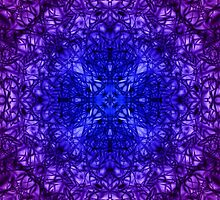 """Spirit of India: Fleur-Web"" in deep blue and violet by FireFairy"