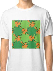 Tropical Leafy Print Classic T-Shirt