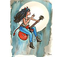 The Gibson SG Witch Photographic Print
