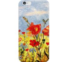 Wildflowers in Acrylics iPhone Case/Skin