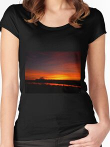 Slow Fade To Night Women's Fitted Scoop T-Shirt