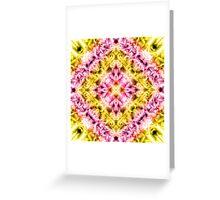 """Spirit of India: Fleur Diamond"" in purple, rose and yellow Greeting Card"