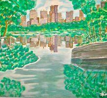 View from oak bridge Central Park by Felix  Zapata