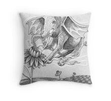 Elephant Bee Throw Pillow