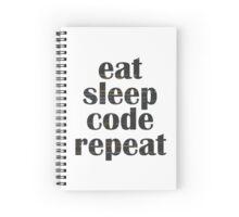 eat sleep code Spiral Notebook