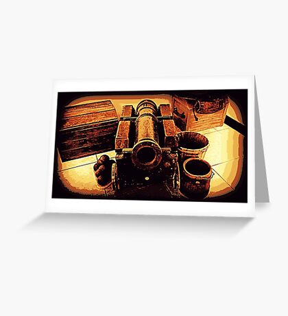 Balls and Cannon Greeting Card