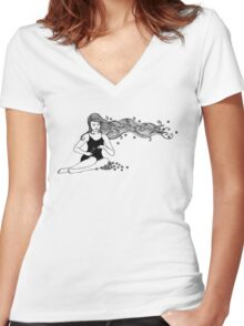secretly I dream of thee  Women's Fitted V-Neck T-Shirt