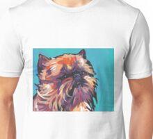 Brussels griffon Bright colorful pop dog art Unisex T-Shirt
