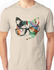 Hipster calico kitty cat Unisex T-Shirt