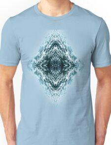 Beautiful Silver sparkles Frozen Ice bubbles Mandala Unisex T-Shirt