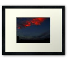 The Clouds Are Falling Framed Print