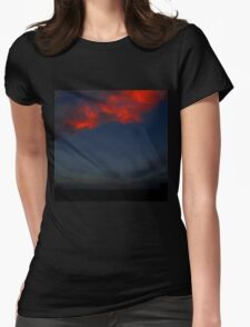 The Clouds Are Falling Womens Fitted T-Shirt
