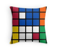 Mixed Up Cube - Rubiks Throw Pillow