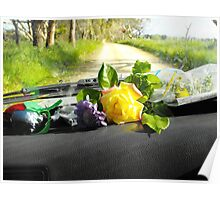 Sunday drive gathering flowers Poster